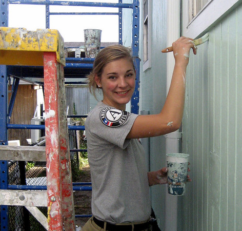 Amanda Chouinard, Londonderry New Hampshire deployed with AmeriCorps NCCC