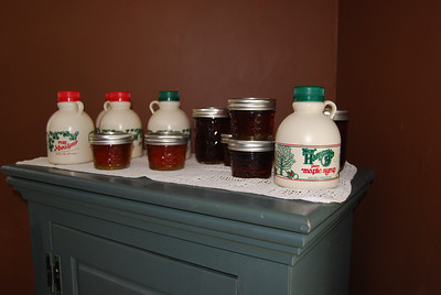 The stash; light and medium variety of 100% pure maple syrup.