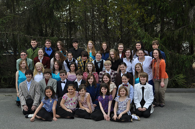 """The cast of """"Guys and Dolls"""" (Katherine Paiva missing)"""