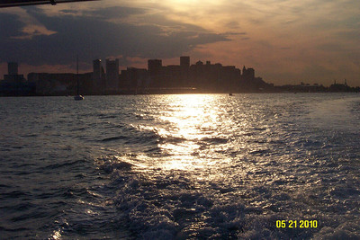 This was taken from the boat as the Troop headed out to Lovells Island looking back at Boston.