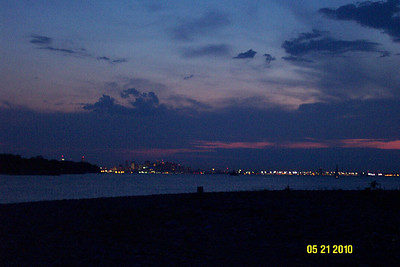 This picture was taken from Lovells Island looking back at Boston.