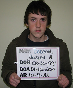 18-year-old Joseph A. Dodson of Weare has been charged with Criminal Trespass.