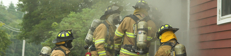 Londonderry Firefighters train on a home with simulated fire.