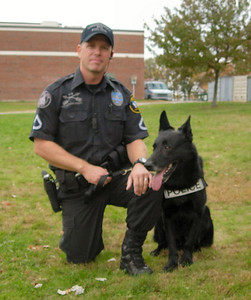K-9 Officer John Perry and Zip