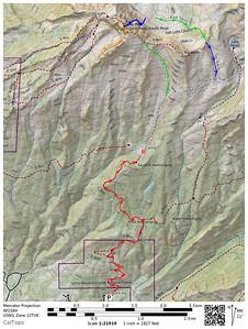 Lone Peak route TOPO