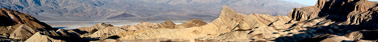 A panorama of the view from Zabriskie Point