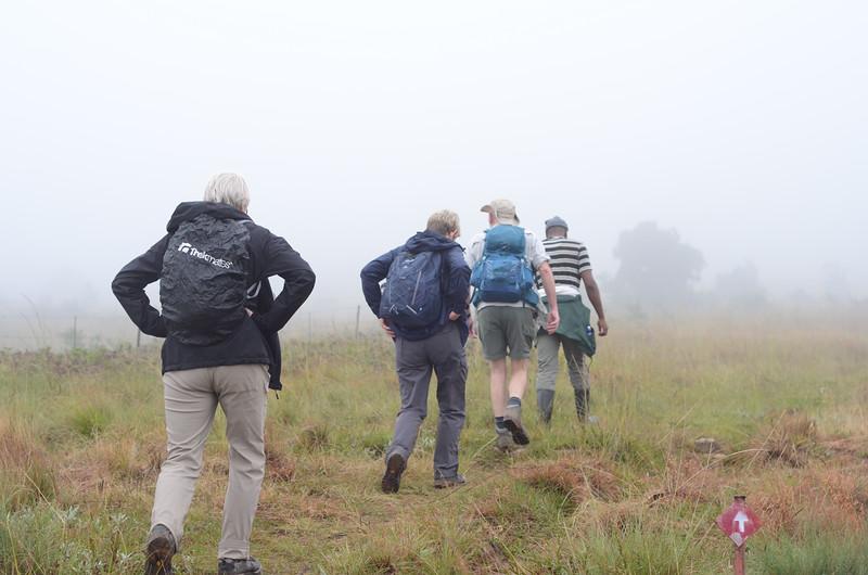 rainy walking in the Drakensberg