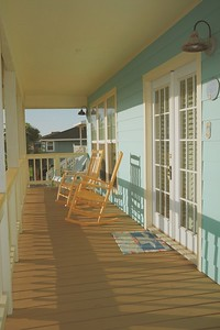 These rocking chairs were so perfect for the porch that we bought them with the house.