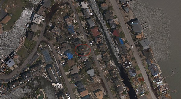 Aerial photos gave us the first indication something major did in fact happen to our house.