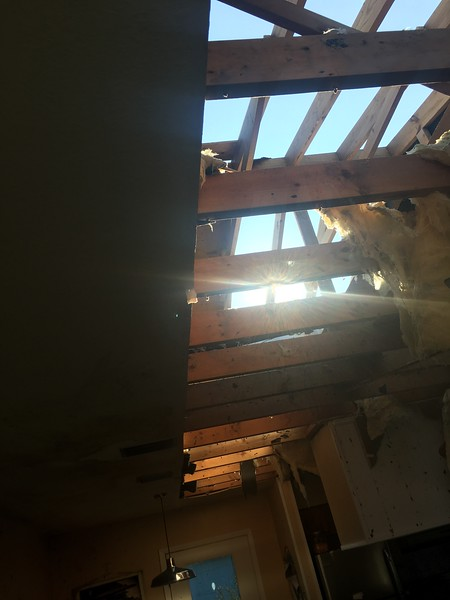 The contractor got inside.  He provided this photo.