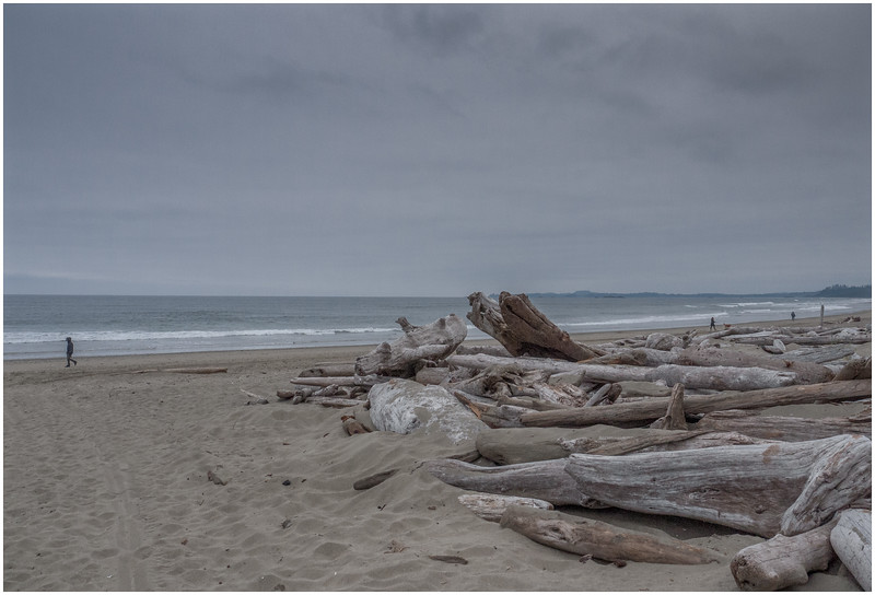 It is one of those cool grey beachy days.