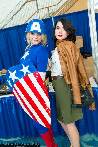Captain America and Peggy Carter