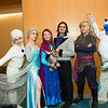 Olaf, Elsa, Anna, Prince Hans, Kristoff, Marshmallow and Sven