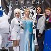 Marshmallow, Olaf, Elsa, Prince Hans, and Anna