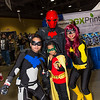 Nightwing, Red Hood, Robin, and Batgirl