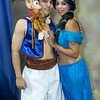 Aladdin, Princess Jasmine, and Abu