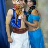 Aladdin, Princess Jasmine, and Abu