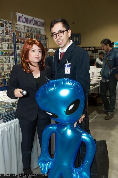 Dana Scully, Fox Mulder, and Alien
