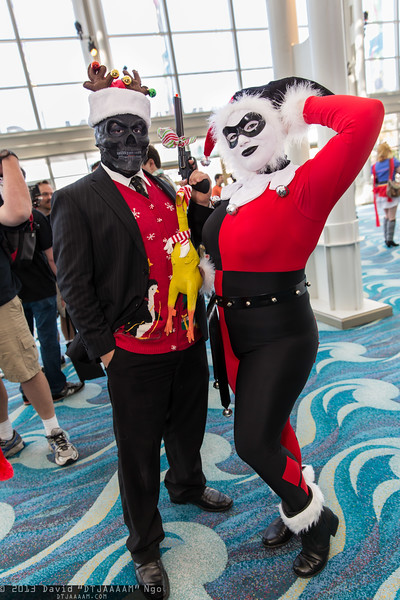 Black Mask and Harley Quinn