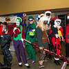 Enigma, Catwoman, Joker, Riddler, Scarecrow, Batman, Harley Quinn, and Black Mask