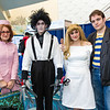 Peg Boggs, Edward Scissorhands, Kim Boggs, and Jim