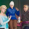Elsa, Jack Frost, Kristoff, and Olaf