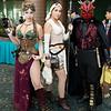 Princess Leia Organa, Rey, and Darth Maul