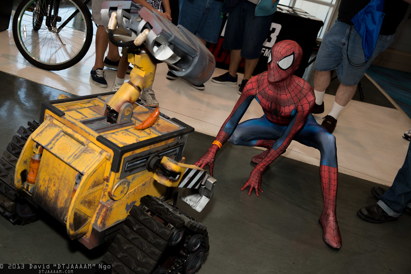 WALL-E and Spider-Man