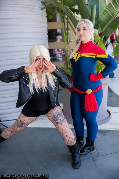 Black Canary and Captain Marvel