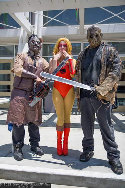Leatherface, Cheetara, and Jason Voorhees
