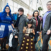 TARDIS, Jamie, Captain Jack Harkness, Dalek, Rose Tyler, and Doctor Who