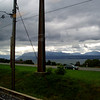 From the train - the Alpes.