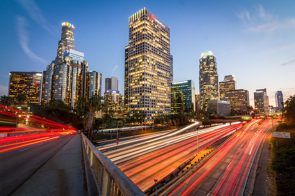 Downtown Freeway at Dusk