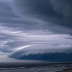 Thunderstorm Heading Out to Sea