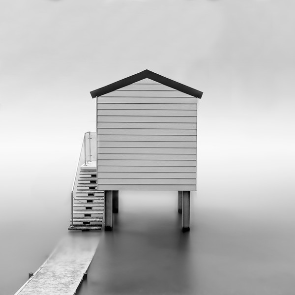 Foggy Beach Hut