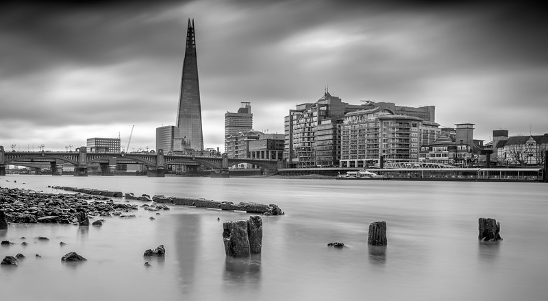 Low tide on the Thames