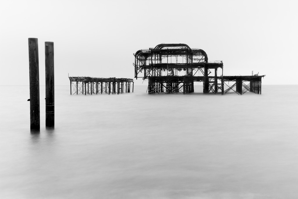 Hanging on - The West Pier Brighton Sussex