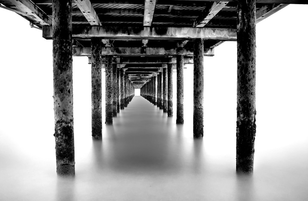Southwold Pier 2 - long exposure black and white