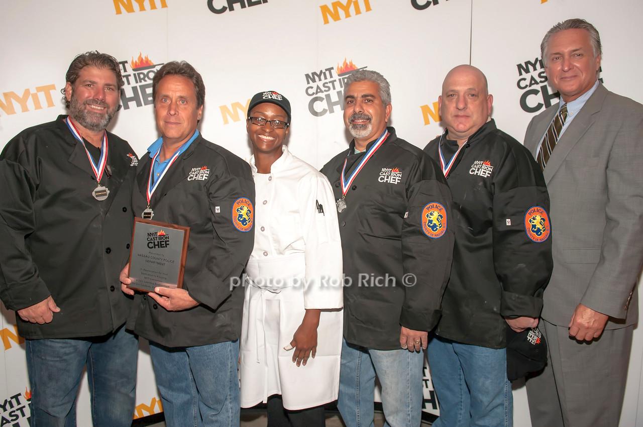 The Nassau County team with Chef Tausha Allen and Chief of detectives Kevin Smith.