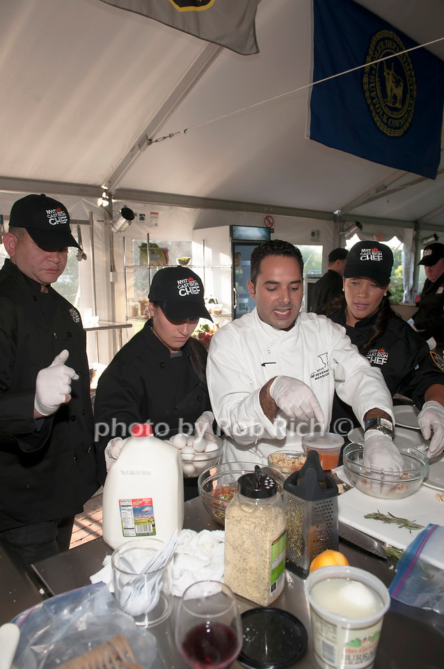 Team NYPD with Chef Anton Vazanellis.