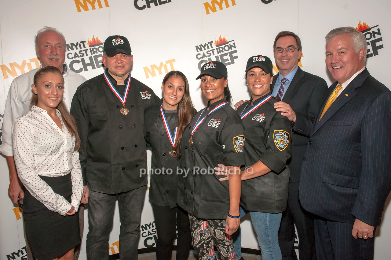 Team NYPD with judges Alexa Galfano, Bill Holden, Dr. Jerry Balentine and Pete Kinney.