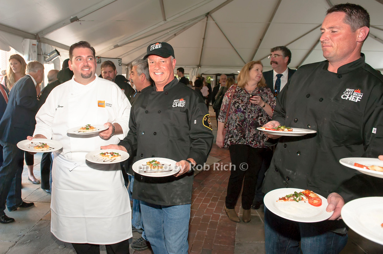 Chef Brian Hoos with Old Brookville's Shaun McKee and team Old Westbury.