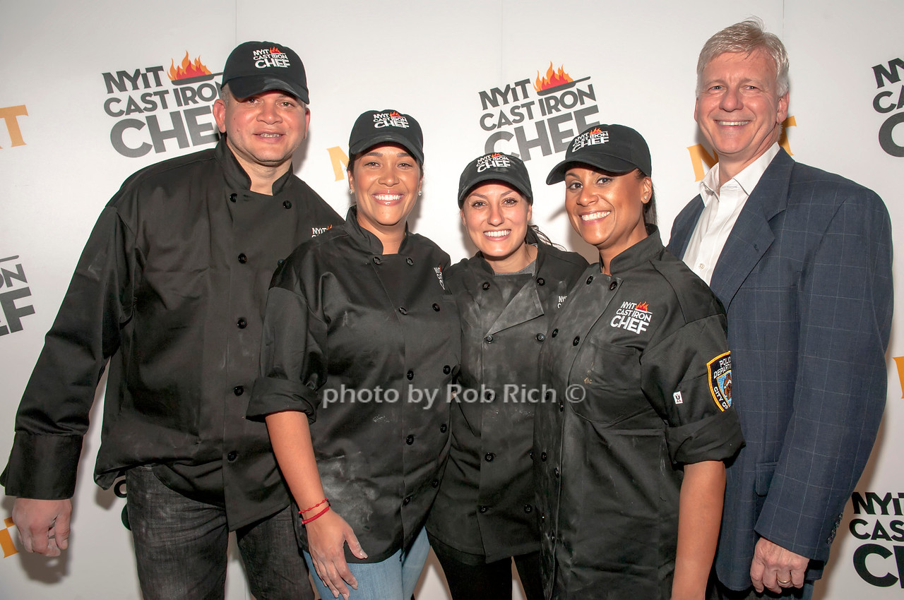 The NYPD team with Lt. Christopher March.