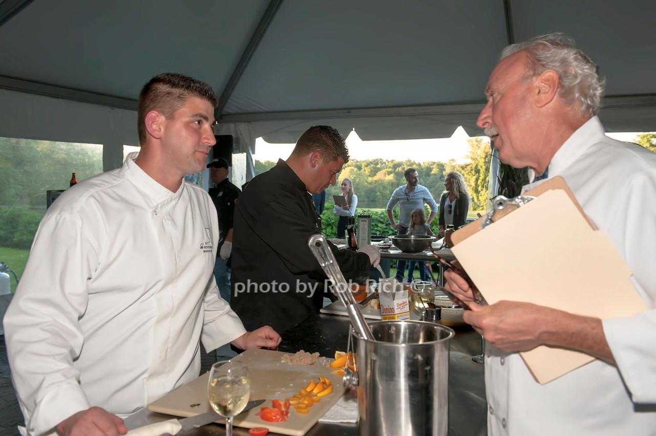 Chef Robert Neuman with judge Bill Holden.