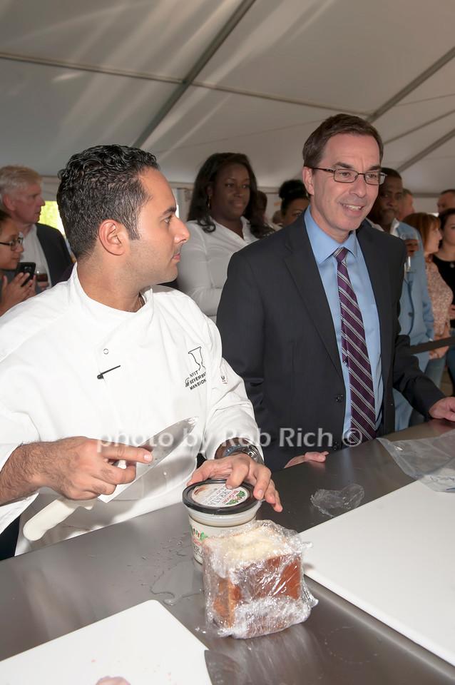Chef Anton Vazanellis with Judge Dr. Jerry Balentine.