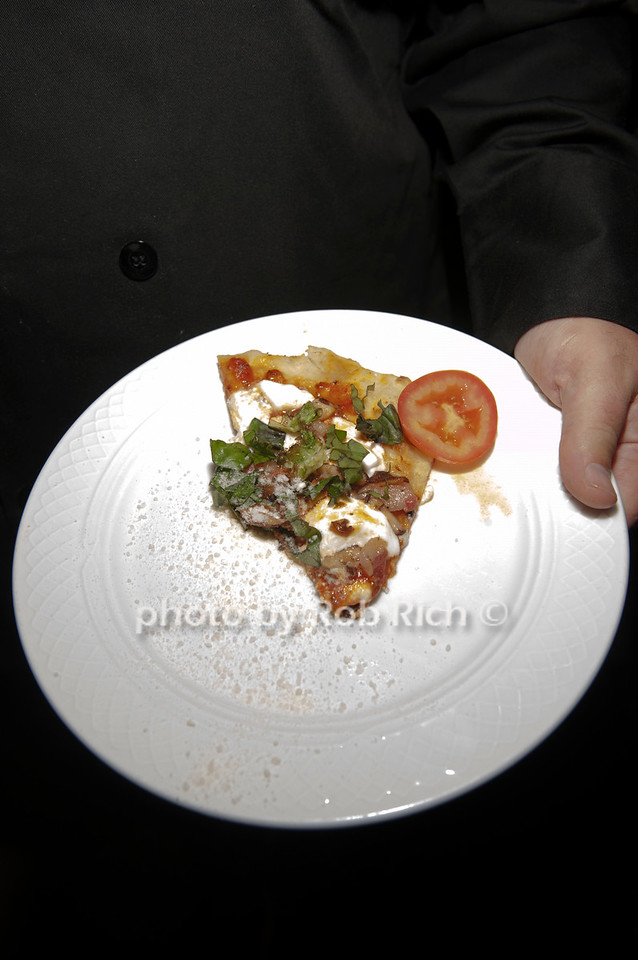 Team Old westbury's grilled pizza appetizer.