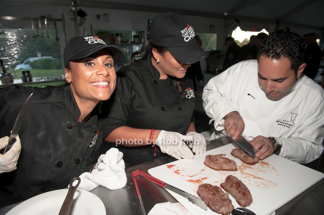 NYPD team with Chef Anton Vazanellis.