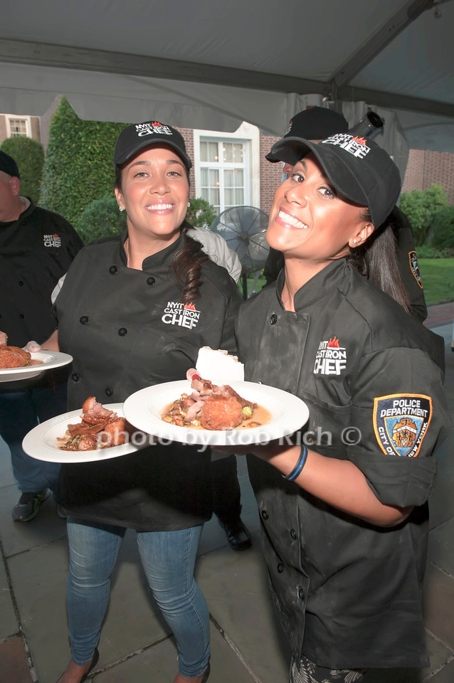 NYPD team with entrees.
