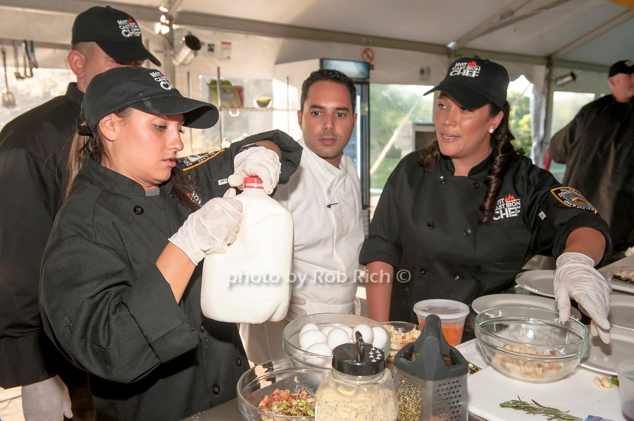 Team NYPD with Chef Anton Vazanellis.