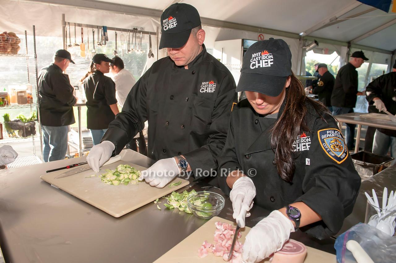 NYPD team members.